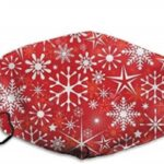 Red mask with Snowflakes